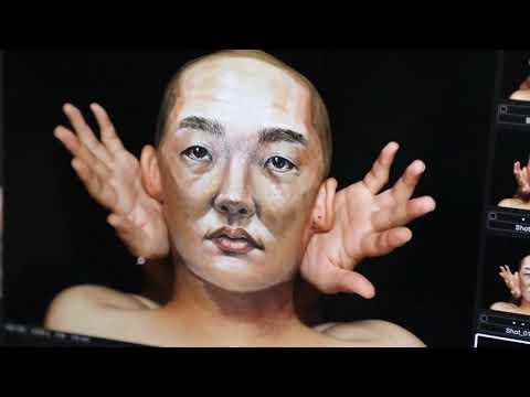 チョーヒカルさんが描く、リアルな顔アート!? 「いろんな顔」篇 12/29(土)よりオンエア