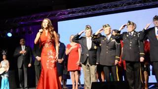 USA National Anthem – Star Spangled Banner perform by Miss Illinois Marisa Buchheit