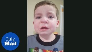 Little boy has lego stuck in his nose- Daily Mail