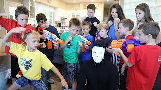 [Nerf Battle]  Kidz Squad Unmasked The Game Master (The White Hat)