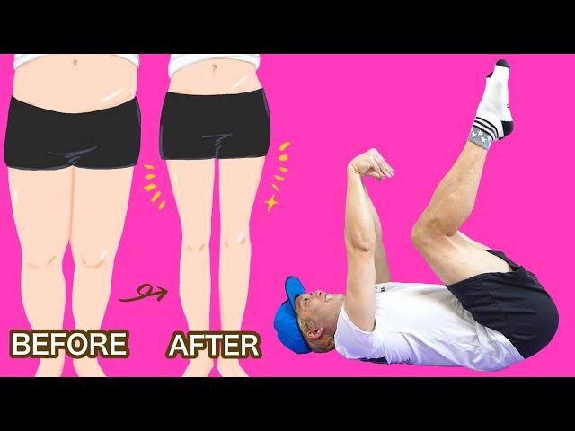 【15分】寝たまま滝汗、ぽっちゃり下半身が倍速で引き締まるトレーニング