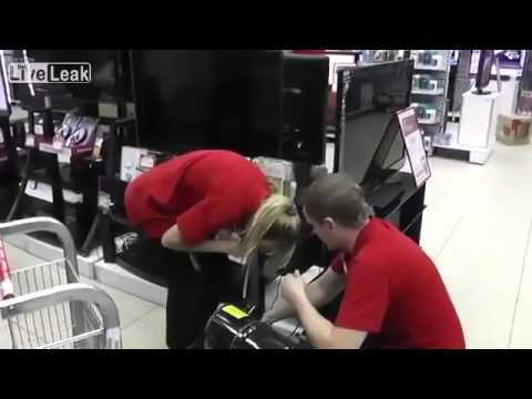 Blondes will be blondes    New employee initiation prank at an electronics store