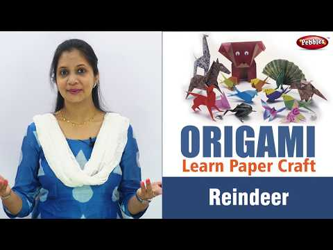 How to make Origami Paper Reindeer in English | Origami Craft for Kids | Easy Paper Craft