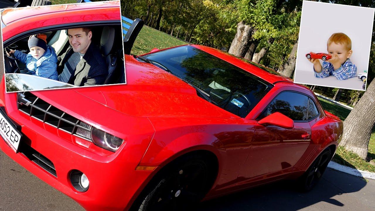 Малыш за рулем Бамблби! Красная машинка превращается в #Камаро (машина из Трансформеров игрушка)