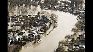 UK floods: Aerial footage of Thames floods