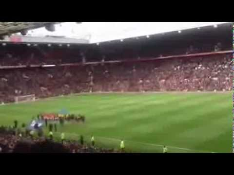 "Arsenal away fans chanting ""She Said No Robin"" & ""Robin Your A Cunt"" at Old Trafford"