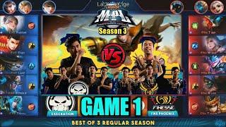 Game1 Execration VS Finesse Phx | MPL PH S3 Regular Season