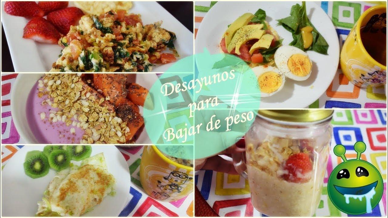 Desayunos variados para adelgazar
