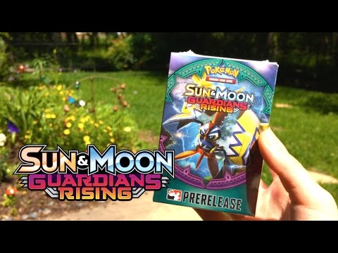 WE HIT GOLD!!! - POKEMON GUARDIANS RISING TCG PRERELEASE!! [SECRET RARE AND FULL ART FROM 4 PACKS!!]