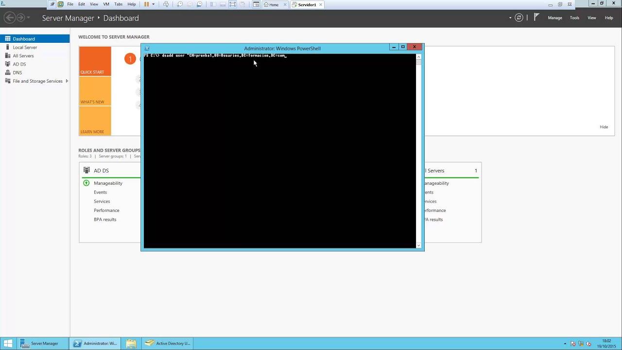Crear usuarios por DS y añadir atributos y contraseña por plantilla ...