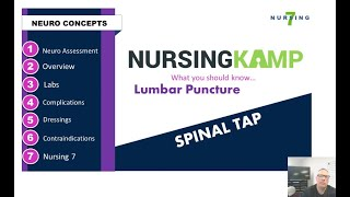 What is a Spinal Tap Lumbar Puncture for NCLEX and Nursing KAMP