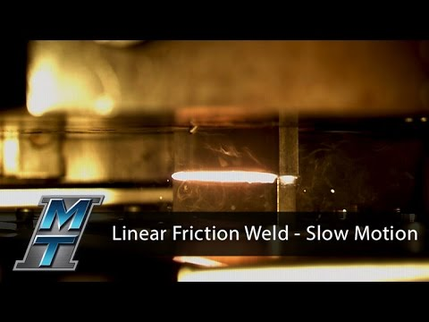 Linear Friction Welder - Slow Motion