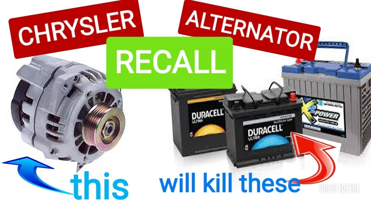 Free Chrysler Alternator Recall T36 P0526 You Will Kill Your Battery If Not Done