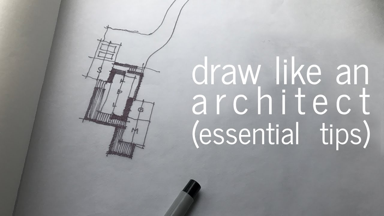 Draw like an Architect  Essential Tips  YouTube