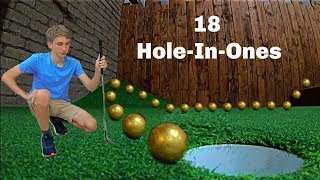 Scoring 18 HOLE-IN-ONES *Mini Golf Trick Shots* | That
