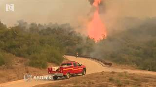 California wildfire rages, threatens communities thumbnail