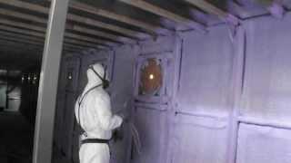 Steel Boat Insulation   Basf Walltite Spray Foam Insulation