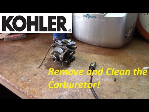 Kohler CV Series V-Twin Carb Removal and Cleaning - YouTube