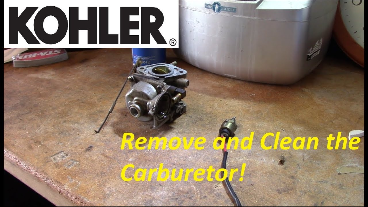 Kohler Cv Series V Twin Carb Removal And Cleaning