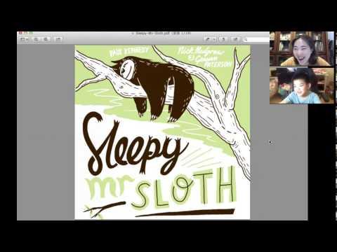 英文故事書 Sleepy Mr Sloth  with Hans