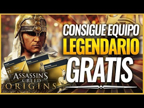 Assassin's Creed Origins   TRUCO como Conseguir GRATIS EQUIPO LEGENDARIO (Armas, atuendos, escudo..)