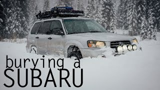 Pushing Snow with a Subaru Forester