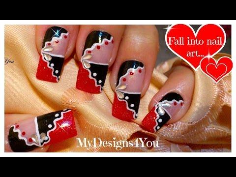 Red And Black Abstract Nail Art | Nail Art For Long Nails ♥ Абстрактный Дизайн Ногтей