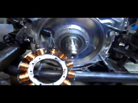 rotor and stator install for v twin
