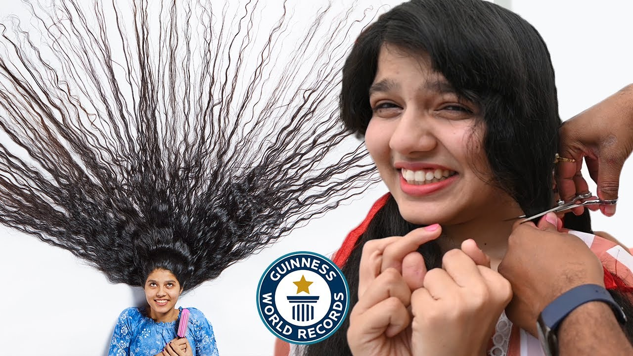 Download Cutting the world's LONGEST HAIR - Guinness World Records