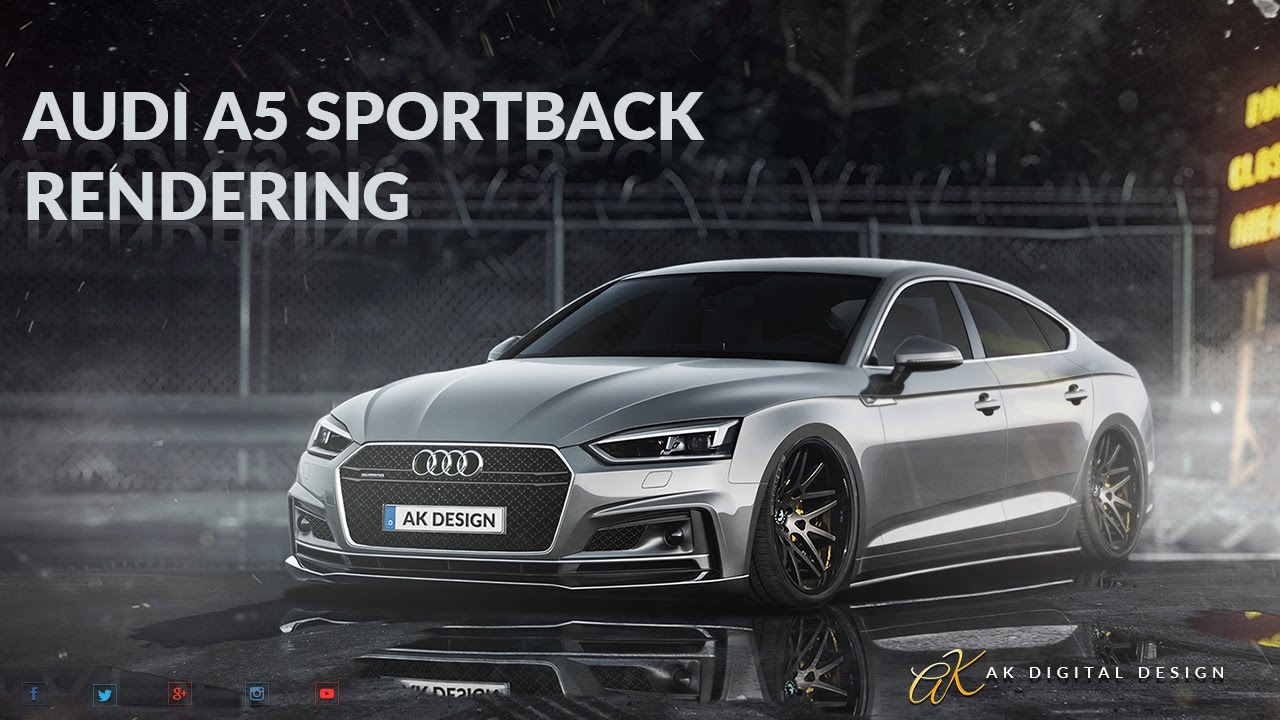 audi a5 sportback modified virtual tuning youtube. Black Bedroom Furniture Sets. Home Design Ideas
