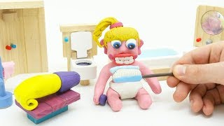 Baby Morning Activities Superhero Stop Motion Claymation Play Doh