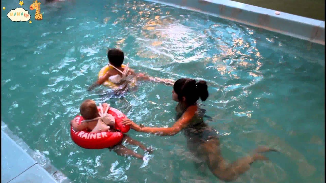 Круг для купания Swimtrainer оранжевый от 1,5 года, 15-30кг - YouTube