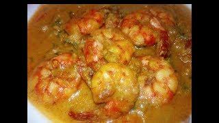 Chingri Macher Korma - চিংড়ি মাছ ভুনা - Chingri Malaikari Recipe - How To Make Prawn Korma Curry