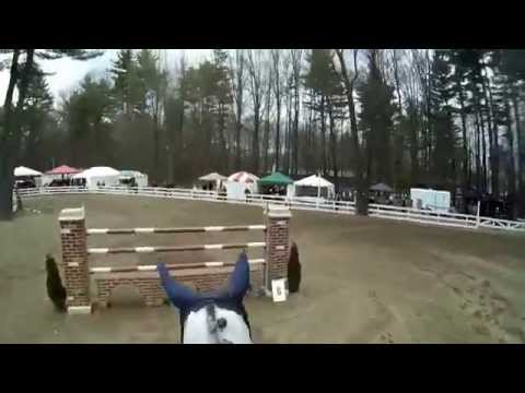 Apollo ridden by Tim Hooker at the Saratoga Springs Horse Show wears a JonesCAM