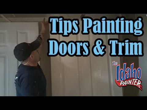 How To Spray Interior Trim Doors Painting Doors Trim Youtube