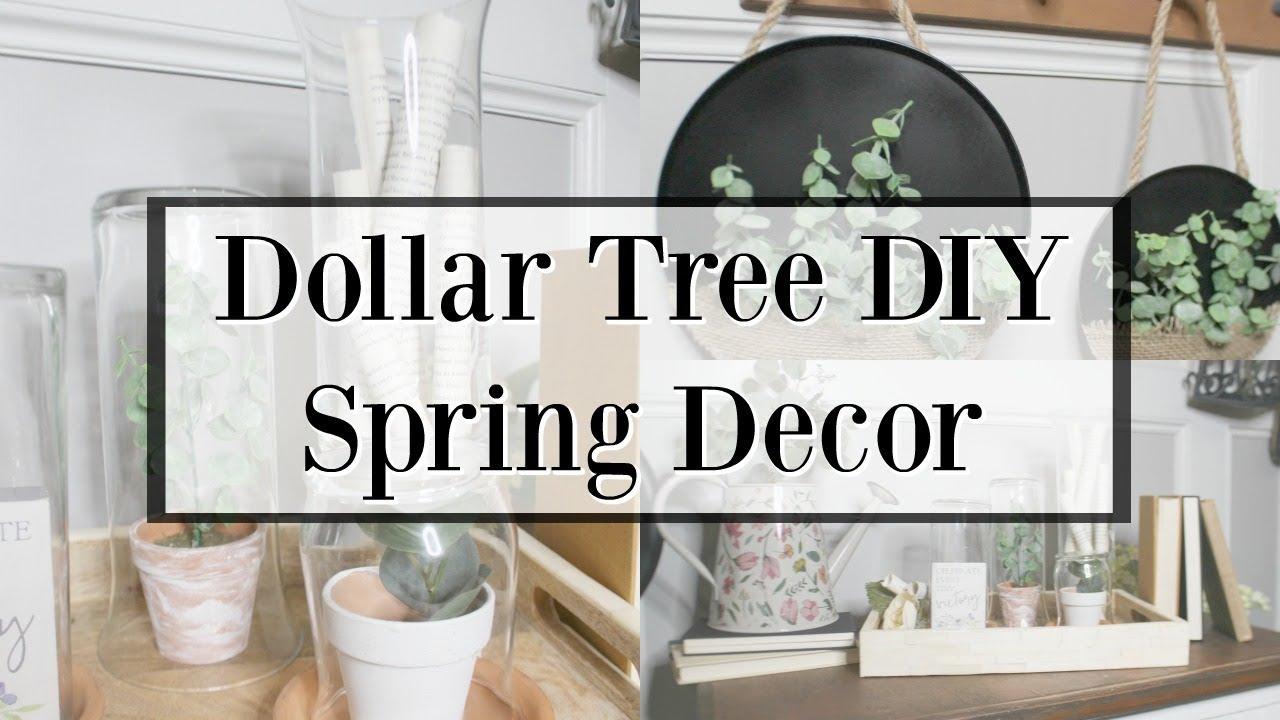 Dollar Tree DIY Spring Decor 26  Wall Decor DIY  Cloche Decorating Ideas
