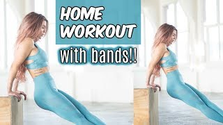 AT-HOME BAND-ONLY WORKOUT | ALL FEMALE BMW RACING | VLOG