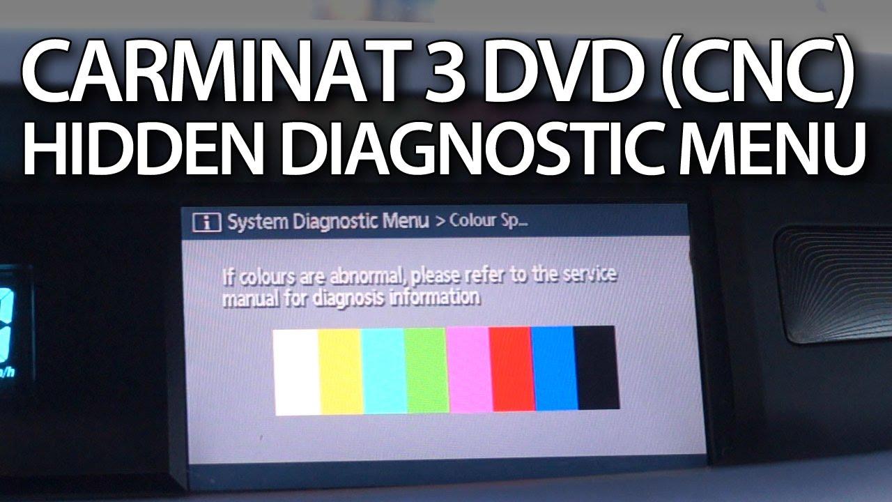 how to enter hidden menu in carminat 3 dvd renault cnc gps espace laguna koleos scenic vel satis youtube [ 1280 x 720 Pixel ]