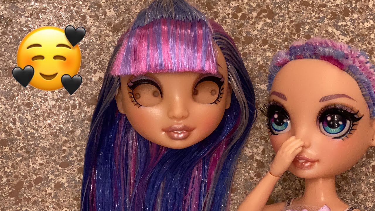 Giving A Thrifted Violet Willows Doll A Makeover + Eye Swap | Rainbow High | Zombiexcorn