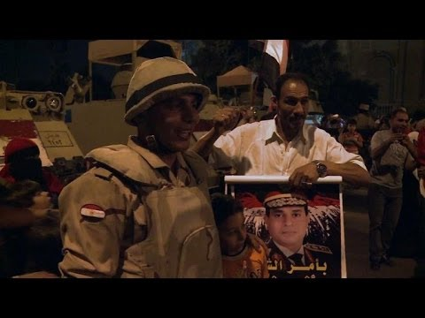 Sisi supporters celebrate presidential victory in Cairo