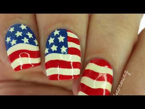 Nail Polish Design #2 | American Flag