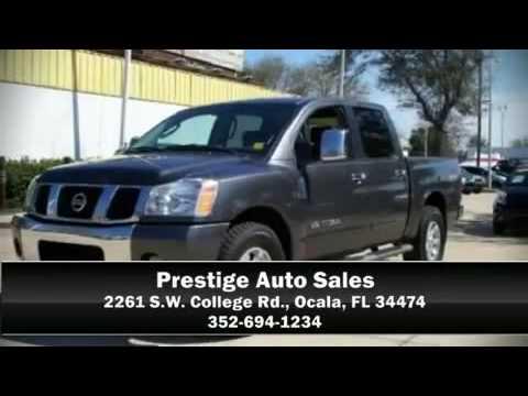 2005 Nissan Titan LE 4x4 - Navi, Roof, DVD - On Sale - Prestige in Ocala ..............