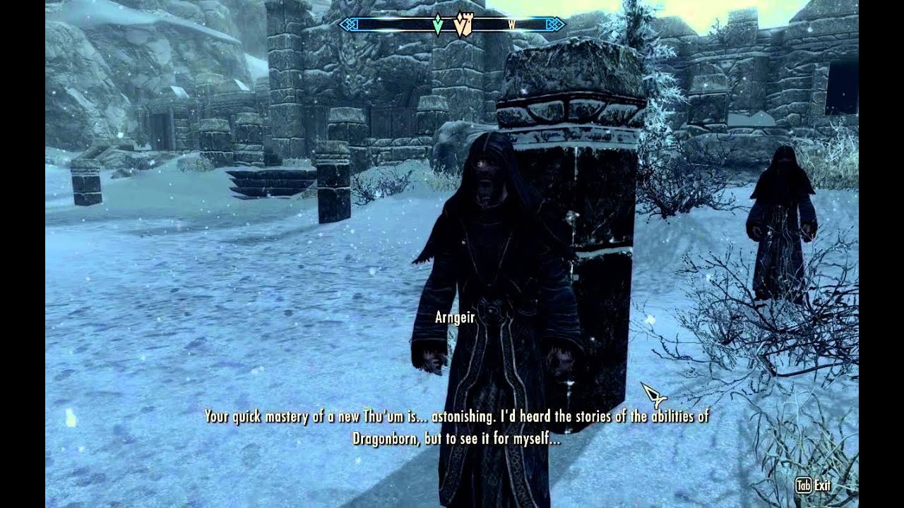 Way of the Voice Pt 2 - High Hrothgar - Main Storyline Quest - Elder  Scrolls 5 Skyrim