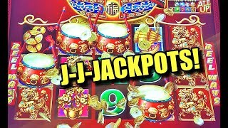 Biggest Jackpot Handpays & Big Wins on Dancing Drums slot machine