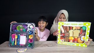 Pretend play with Food playset and tableware - Mainan anak