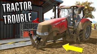 Farming Simulator 2017 | TRACTOR TROUBLE | American Outback | Episode 6