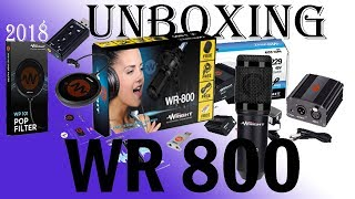 Unboxing WR-800  CONDENSER MICROPHONE , PHANTOM POWER,POP FILTER, Sound
