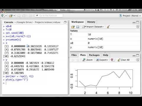 R Programming: Simulating Random Walk Process