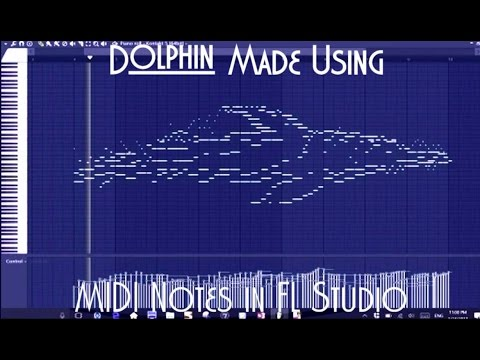 DOLPHIN MADE OF MIDI NOTES (0:34 for Dolphin)