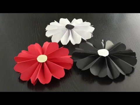 papierblumen basteln youtube. Black Bedroom Furniture Sets. Home Design Ideas